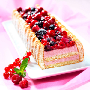 entremets charlotte aux fruits rouges